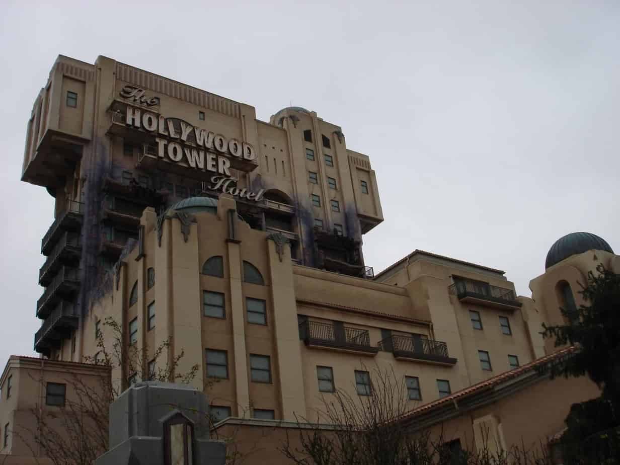 Attracties in Disneyland Paris - tower of terror